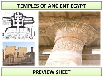 Ancient Egypt - Temples Mini Unit