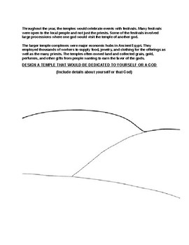 Ancient Egypt Temples and Priests Worksheet and Design assignment