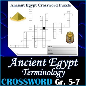Ancient Egypt Vocabulary Crossword Teaching Resources Teachers Pay