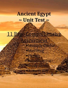 Ancient Egypt Test & Study Guide