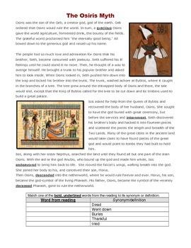 Ancient Egypt - The Osiris Myth