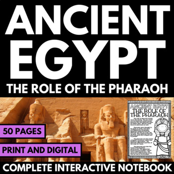 Ancient Egypt Unit - The Pharaoh - Questions, Information,