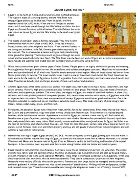 Ancient Egypt: The Rise - Grade 6