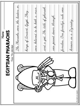Ancient Egypt Theme Based Handwriting Lessons (Cursive Edition)