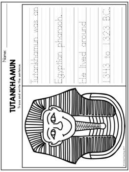 Ancient Egypt Theme Based Handwriting Lessons (Manuscript Edition)