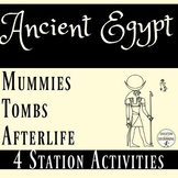 Ancient Egypt Tombs, Mummies, and the Afterlife 4 Station activities
