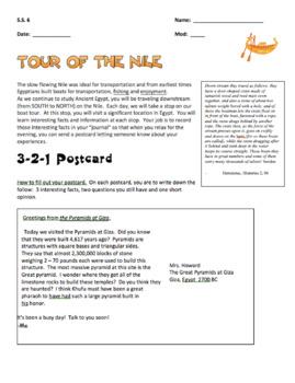 Ancient Egypt (Tour of the Nile) - Postcard