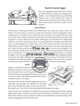 Ancient Egypt Unit **BUNDLE** - Inquiry-Based, Reading Comprehension