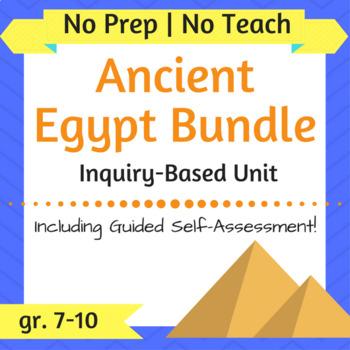 Ancient Egypt Unit **BUNDLE** - No Prep, No Teach, Inquiry-Based