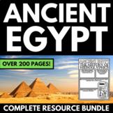 Ancient Egypt Unit Bundle | Egypt Interactive Notebook | Q