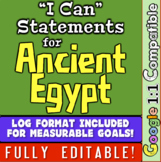 """Ancient Egypt Unit """"I Can"""" Statements and Learning Goals! Log Egypt Learning!"""