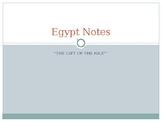 Ancient Egypt Unit Notes