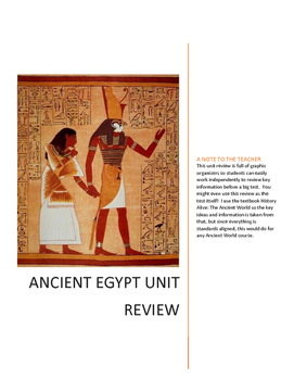 Ancient Egypt Unit Review