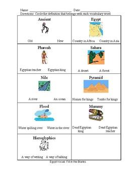 Ancient Egypt Vocab