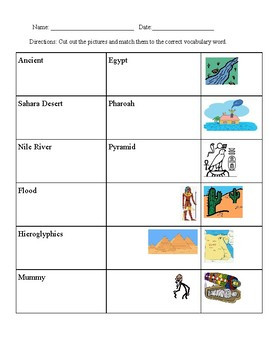Ancient Egypt Vocab