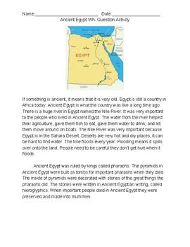 Ancient Egypt Vocab Story