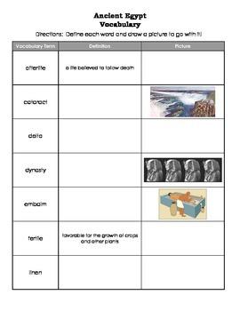 Ancient Egypt Vocabulary