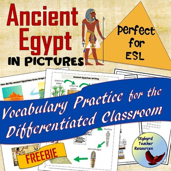 Ancient Egypt Vocabulary Activities in Pictures Great for ESL SPED By Skybyrd Teacher Resources