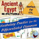 Ancient Egypt Vocabulary Activities in Pictures Great for ESL SPED