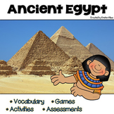 Ancient Egypt Vocabulary, Activities, Assessments and Games