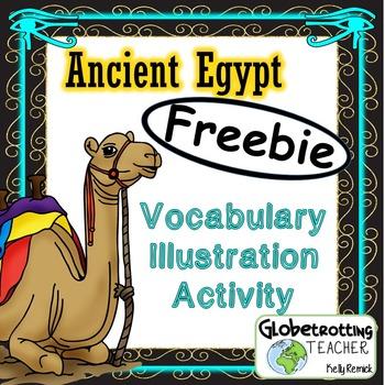 Ancient Egypt Vocabulary Illustration Activity - FREEBIE