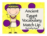 Ancient Egypt Vocabulary Match Up