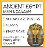 Ancient Egypt - Vocabulary Posters, Quizzes, Bingo Game