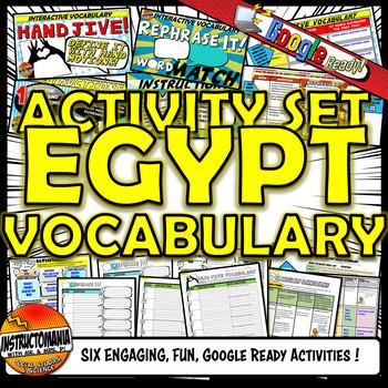 Ancient Egypt Vocabulary Set Mini Bundle