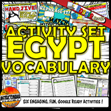 Ancient Egypt Interactive Vocabulary Activity Set Google Ready