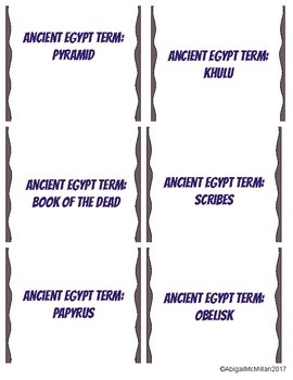 Ancient Egypt Vocabulary Speed Dating