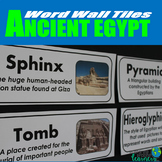 Ancient Egypt Vocabulary Word Wall Tiles