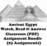 """Ancient Egypt """"Watch, Read & Answer"""" Classroom  Assignment"""