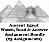 """Ancient Egypt """"Watch, Read & Answer"""" Online Assignment Bun"""