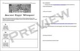 Ancient Egypt Webquest & Vocabulary