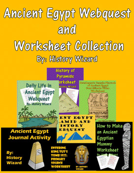 Ancient Egypt Webquest and Worksheet Collection (History Wizard)
