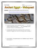 Ancient Egypt - Webquest with Key (History.com)