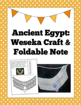 Ancient Egypt: Weseka Craft & Foldable Note