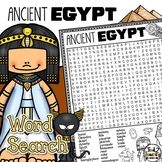 Ancient Egypt Word Search Activity