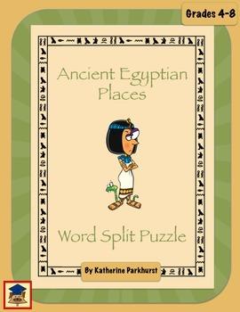 Ancient Egypt Word Split Puzzle