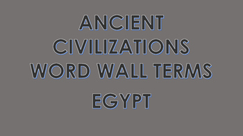 Ancient Egypt Word Wall Cards