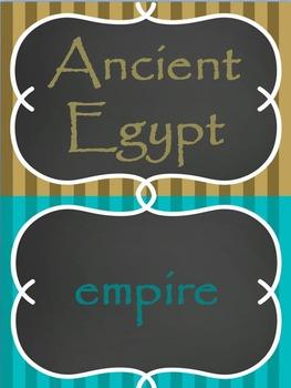 Ancient Egypt Word Wall Set