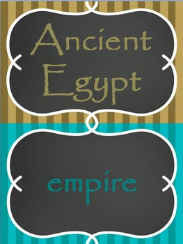 Ancient Egypt Word Wall Set