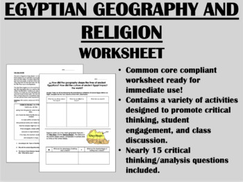 Ancient Egypt Bundle - Global/World History Common Core