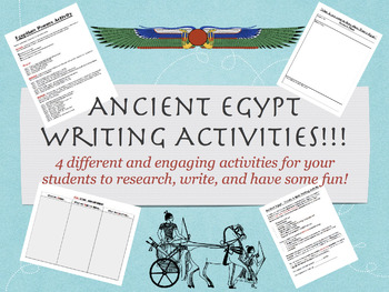 Ancient Egypt Writing Activities