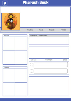 Ancient Egypt Writing Templates