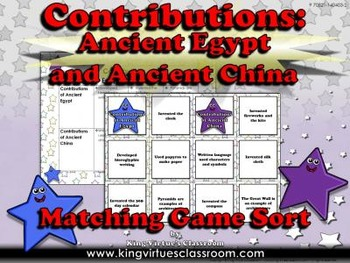 Ancient Egypt and Ancient China: Contributions Matching Ga