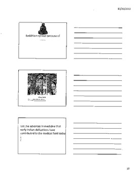 Ancient Egypt and Ancient India Printout