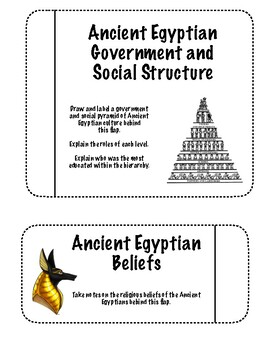 Ancient Egypt and Ancient Mesopotamia - Interactive Notebook