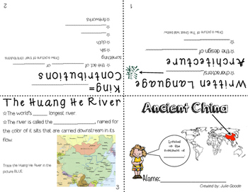 Ancient Egypt and China Booklet