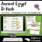 Ancient Egypt and Kush DIGITAL Interactive Notebook Unit W